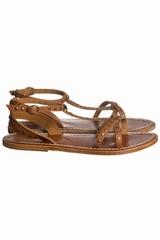 Sandales Soeur cuir cloutées.