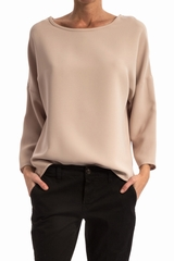 Top tamise TOUPY, Top ample col rond large, manche raglan