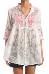 Blouse The Mexican ONE SEASON, Robe chemise manche 3/4, col