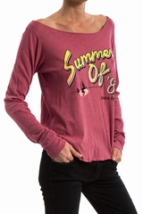 Tees Summer of 87 WILDFOX, Top manches très longues, col