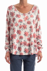 Top Gypsy Roses WILDFOX, Top ample manches très longues col