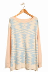 Sweat Marocan Zig Zag WILDFOX, Pull manches longues col rond
