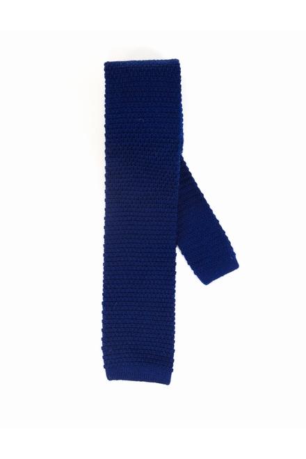 Cravate TRICOT : 100% Laine Bout carré Largeur bas : 6.5cm