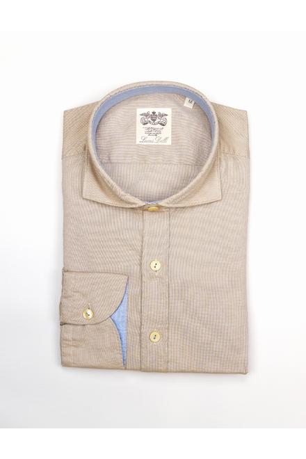Chemise Casual Oxford uni Coupe droite Aspect vintage