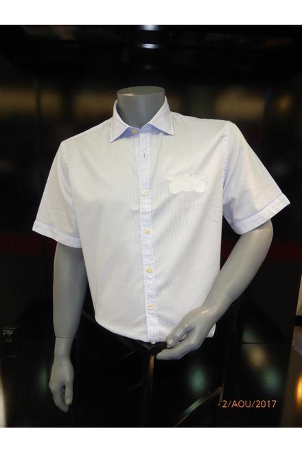 Chemise casual manches courtes Coupe droite Col souple