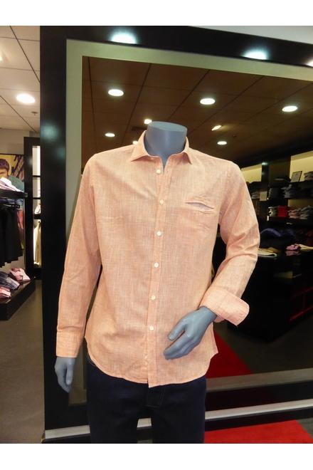 Chemise Casual Coupe droite Col souple pouvant être porté