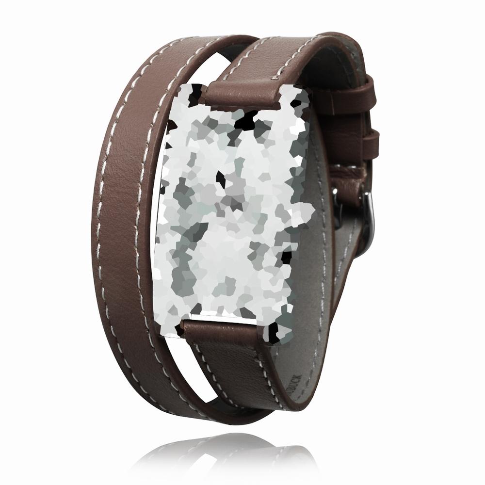 Extrêmement bracelet montre double tour cuir Loaven CHOCOLAT XI54