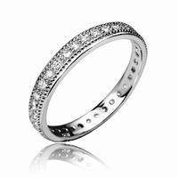 Bague anneau complet type alliance Monture en argent 925
