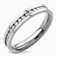 Bague anneau total en acier 316l et zirconium sur toute la