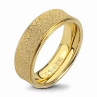 Bague anneau acier finition couleur or