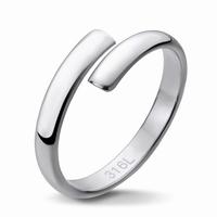 Bague anneau design en acier 316L