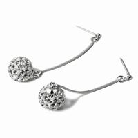 boucles d'oreilles boule argent 925 pierres zirconium de