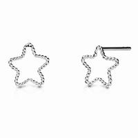 Boucles d'oreilles étoile Maille fine torsadée Argent 925