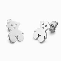 Boucles d'oreilles oursons en acier chirurgical Dimensions