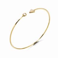Bracelet rigide forme jonc bain d'or Motifs : fleche et