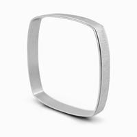 Bracelet carré en acier 316L Aspect mat brossé avec un fin