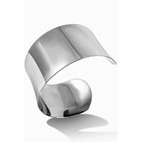 Bracelet manchette acier 316L lisse Diamètre intérieur 6 cm