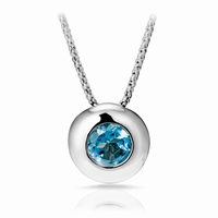 real stone : blue topaz total diameter 14mm delivered with