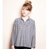 Matière: Coton Col chemise Chemise carreau vichy Ouverture à