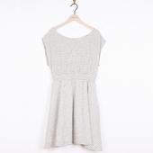 Matière: Coton Robe longue Encolure ronde Taille élastiquée