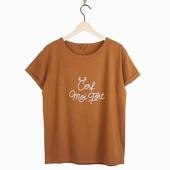 Matière : coton T-shirt à message Col rond Disponible en