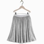 Jupe culotte argenté Effet ample et brillant Taille
