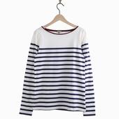 Matière : coton T-shirt marinière manches longues Rayures