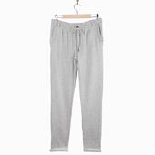 Matière : Molleton Pantalon Disponible en gris chiné et noir