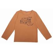 Tee shirt Encolure ronde, print exclusif sur le devant,