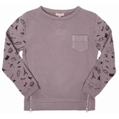 Sweat double zip Print exclusif en all over sur les manches,