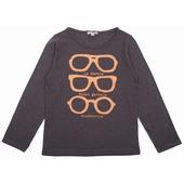 Tee shirt Encolure ronde, application lunettes cousues et