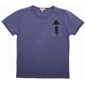 Tee Shirt Broderie exclusive sur poitrine, encolure ronde,