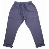 Pantalon lin Taille élastiquée, poches à l'avant, ceinture