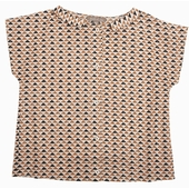 Blouse imprimée Motif tournesol ou triangle exclusif en all