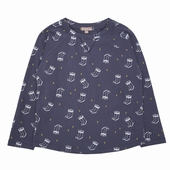 Fabric: Soft jersey  Available in navy blue Exclusive print