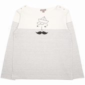 Fabric: Cotton Exclusive sailor print placed on the chest