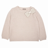 Matière: Laine Disponible en noir Pullover en laine et fil