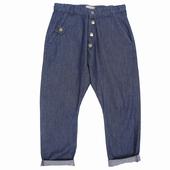 Matière: Chambray Pantalon Forme chino 2 poches avant 2
