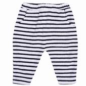 Matière: Eponge Pantalon éponge rayé Taille élastiquée avec