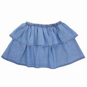 Material: Chambray Flounced skirt Elasticatd waist Made in