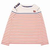 Matière: Jersey Tee shirt rayé Broderie exclusive