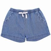 Matière: Chambray Short 2 poches avant brodées avec bord