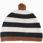 Material : wool Cap with large or fine strips Available in