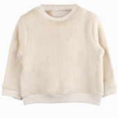 Extra soft sweater Available in chestnut and ecru Round neck