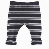 Matière : coton Legging Rayures blanche et bleue Taille