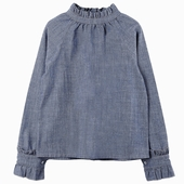 Material : Chambray Blouse in chambray Buttoned closures