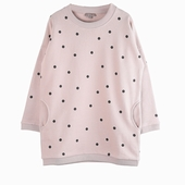 Material : cotton Spot sweater dress Available in pink and