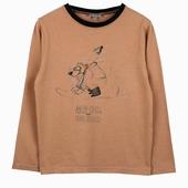 Matière : coton Tee shirt manches longues Imprimé exclusif