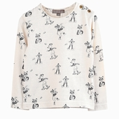 Material : cotton Long sleeves t-shirt in ecru Exclusive fox