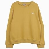 Matière : coton Sweatshirt curcuma Broderie exclusive motif